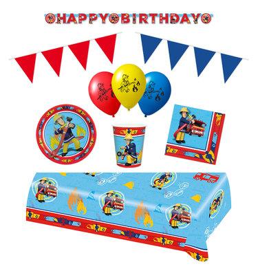 Brandweerman Sam feestpakket Deluxe II - pakket voor 8 personen