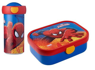 Spiderman broodtrommel met drinkbeker set
