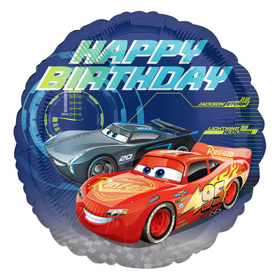Disney Cars folie ballon Happy Birthday
