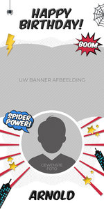 Gepersonaliseerde deurbanner Spiderman thema