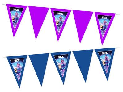 Gepersonaliseerde vlaggenlijn Fortnite thema
