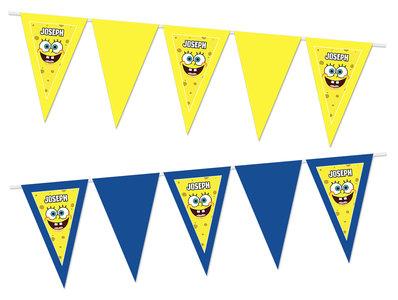 Gepersonaliseerde vlaggenlijn Spongebob thema