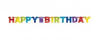 HAPPY BIRTHDAY slinger gemengde kleuren