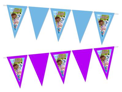 Gepersonaliseerde vlaggenlijn Speelgoed Dokter thema voorbeeld