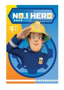Brandweerman Sam fleece deken Hero