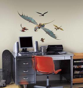 hoe tem je een draak xl wanddecoratie muurstickers set