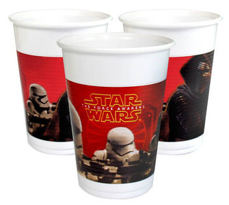 Star Wars The Force Awakens party bekers