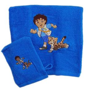 Diego handdoek met washandje giftset