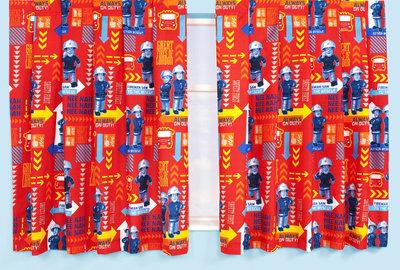 Brandweerman Sam gordijnen Alarm 183cm lang