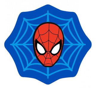 Spiderman vloerkleed, web motief en afmeting 80x75cm!