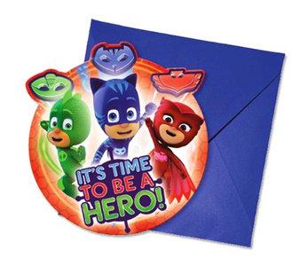 PJ Masks uitnodigingen met envelop II