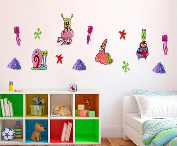 Spongebob XL foam wanddecoratie set 14-delig