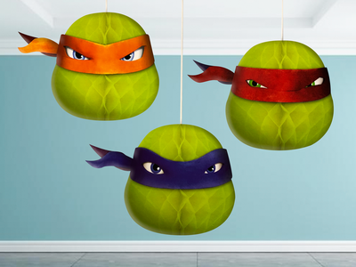 Ninja Turtles Honeycomb 3 Delig Plafond Slinger Deco Set