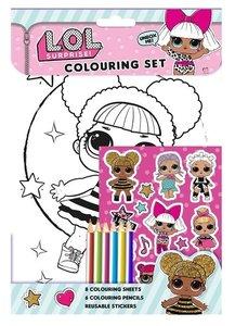 L.O.L Surprise kleur en sticker set