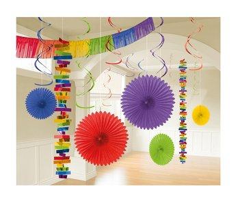 Decoratie set gemengde kleuren
