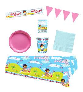 Dora Explorer feestpakket - Voordeelpakket 8 personen