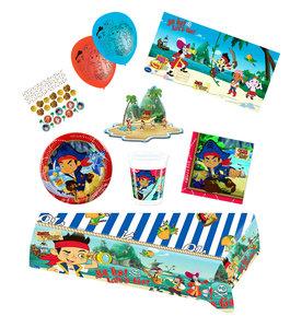Jake en de Nooitgedachtland Piraten feestpakket Deluxe - pakket voor 8 personen