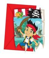 Disney Jake en de nooitgedachtland piraten uitnodigingen