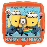 Verschrikkelijke ikke Happy Birthday foil ballon