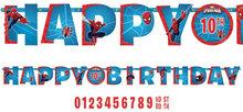 Spiderman HAPPY BIRTHDAY slinger met leeftijd