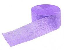 papieren crepe slinger paars