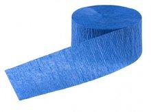 papieren crepe slinger blauw