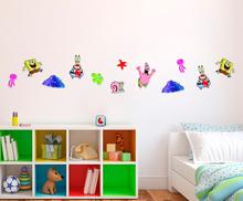 Foam Stickers Kinderkamer.Spongebob Muurstickers Wanddecoratie 94x60cm
