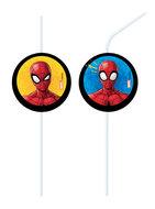 Spiderman party rietjes