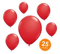 Ballonnen unikleur rood - 25 stuks