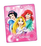 Disney Princess fleece deken met Ariël en Rapunzel