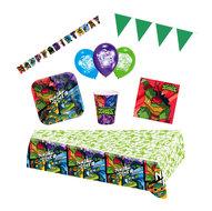 Ninja Turtles feestpakket Deluxe - pakket voor 8 personen 2019