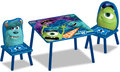 Monsters University tafel met 2 stoelen