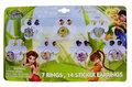 Disney Tinkerbell 14 delig ring en oorsticker set