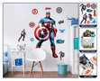 The Avengers XL wanddecoratie Captain America muursticker set